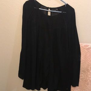 Black long sleeve dress, size S